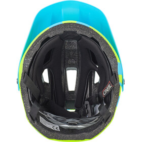 O'Neal Defender 2.0 Helmet sliver neon yellow/blue
